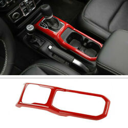 For 2020 Jeep Gladiator Abs Red Inner Car Gear Panel Shift Cover Decor Trim Fram
