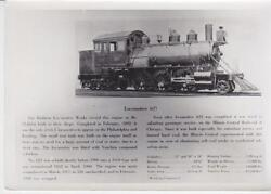 Locomotive 623- Completed In Feb 1892- Train Photo W/information