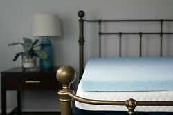 2and039and039 3 4 Lounj Cool Gel Memory Foam Mattress Topper All Sizes And Custom Sizes