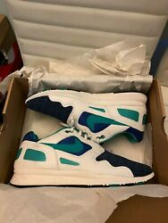 Nike Air Flow Storm Blue New Green Summit White Usa Size 10.5 458206-401 2012