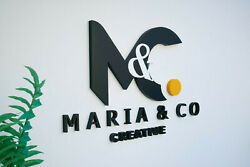 3d Wall Sign 70 Cm Width Personalised Business Logo Custom Made Wall Letters