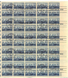 1013 3c Service Women Full Sheet Tied By Official First Day Of Issue [101585]