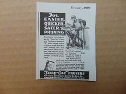 1939 Snap -cut Pruners Small Vintage Print Ad