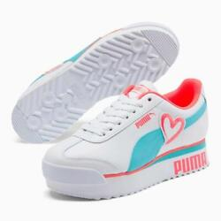 Amor Heart 1.5 Platform Low Valentine Women Shoes White/pink Size 10 New