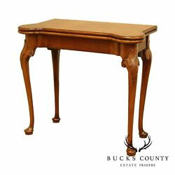 Fine Quality Queen Anne Style Mahogany Card Or Game Table