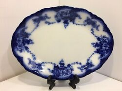 Antique Alfred Meakin And039devonand039 Serving Platter 1907 - 1915 Rare 15 3/4 X 11 3/4