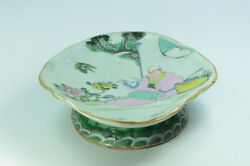 Rare Antique Chinese Qing Dynasty Famille Verte Serving Tray