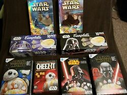 Star Wars Movie Vintage General Mills Cereal, Campbells Soup, Cheezit Boxes Used