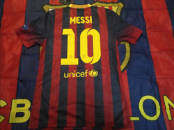 Barcelona 2013-14 Home Messi Match Player Issue Shirtcl Version, Bnwt