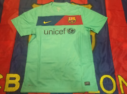 Barcelona 2010-11 Away Match Player Issue Shirtbrand New Without Tag
