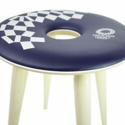 Tokyo 2020 Olympic Games Emblem Tendo Wood Products Ring Stool Official Goods