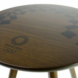 Tokyo 2020 Olympic Emblem Tendo Wood Product Stool Side Table Official Goods