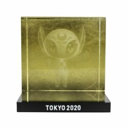 Tokyo 2020 Paralympic Mascot Someity 3d Crystal Gold Olympic Official Goods