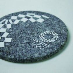 Tokyo 2020 Olympic Emblem Aji Stone Circle Weight Official Licensed Goods