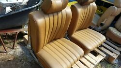 Mercedes W108 109 110 111 280se Front Seat Landr In Bamboo With Headrest