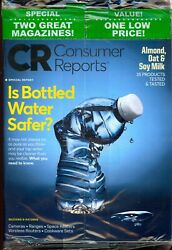 Consumer Reports - Is Bottled Water Safe And Get Smart About Supplements Sealed