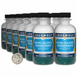 Nickel Sulfate / 3 Lbs / 12 Bottles / 99.9 Pure Reagent Grade / Fine Crystals