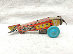 1920s Vintage Rare Hamilton C1033 Litho Early Windup Tin Toy Racer Plane Japan