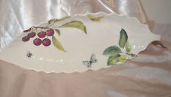 Spode Plate Fruit Haven 16 Long Leaf Style Butterflies And Bumble Bees 2006