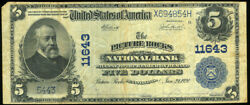 5.00 1902 Blue Seal Picture Rocks Pa National Bank Lycoming County Pa Look