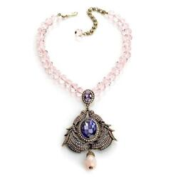 Nwt Heidi Daus Maiden Flight Of Fantasy Necklace Earring Set Snow White Signed