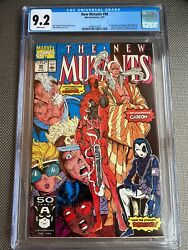 The New Mutants 98 1st Deadpool Cgc 9.2 White Pages Key Firsts