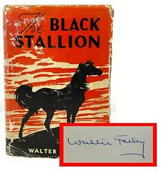 Walter Farley - The Black Stallion - Signed 1st Stated 1st Issue Dust Jacket