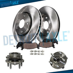 325mm Front Brake Rotors Pad + Wheel Hubs For 2013-2016 Ford Taurus Lincoln Mkt