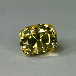 Untreated 2.52 Ct Full Brilliance 明确 Eye Clean Sapphire Fancy Green Gold +report