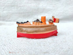 1930s Vintage Fighter Ship Combat Ship Celluloid Rattle Toy Collectables Japan