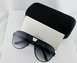Gucci GG2252S M7A 62mm Mens Aviator Sunglasses with Grey Lens Nylon Arms $167.00