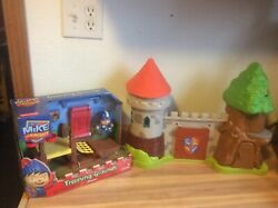 Mike The Knight Glendragon Castle W/sounds And Training Ground Playset