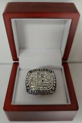 Russell Wilson - 2013 Seattle Seahawks Custom Super Bowl Ring With Wooden Box