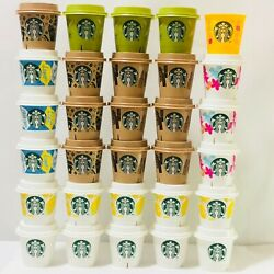 Starbucks Pudding Cup 30 Pieces 【super Rare Item】 Lot Of Empty Cup Case Limited