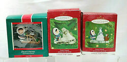 Hallmark Ornaments Frosty Friends Series Set Of 3 1989, 2000, 2001 Boxed X1202