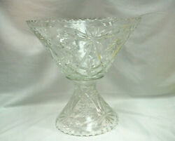 Anchor Hocking Eapc Star Of David Punch Bowl, Stand/pedestal And Ladle M4677