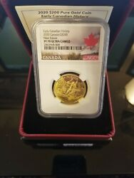 2020 Canadian Early History New France - 200 Pure Gold Coin Ngc Pf70