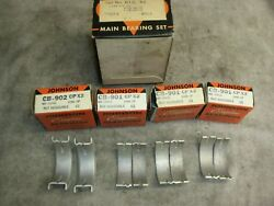 Corvair All Year .002 Over Size Dual Flange Main Bearings By Johnson, New In Box