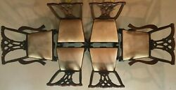 Authentic Craftique Chippendale Ball Claw Mahogany Formal Dining Room Chairs