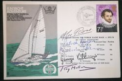 Signed R.n. Yacht Adventure Cover Whitbread Round The World Race Fdc Royal Navy