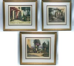 Set Of 3 Hand Colored French Engraving Of Northern France
