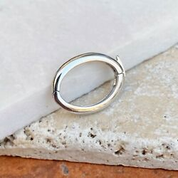14kt White Gold Pearl Shortener Clasp Enhancer Oval Sturdy Useful Item New