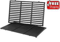 2pk Replacement Bbq Cast Iron Cooking Grid Grates For Weber Genesis Spirit 7638