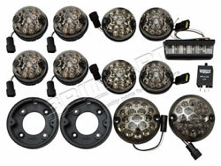 Land Rover Defender And Series Deluxe Led Smoked Light Kit 73 Mm Led Style Da1577