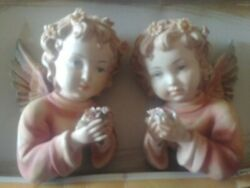 2 Lefton Hand Painted China Wall Plaques. 5.5h × 5w. Small Chips In Flowers In