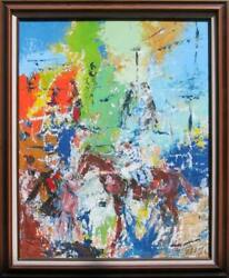 Richard Polter Winner Circle Oil On Canvas Signed