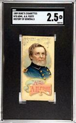 1889 Dukeand039s Cigarette Booklet N78 History Of Admiral A.h. Foote Sgc Graded 2.5
