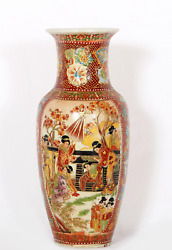 Unknown Chinese Women In The Garden Painted Porcelain Vase