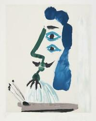 Pablo Picasso Le Peintre Et Sa Palette Lithograph On Arches Signed And Number