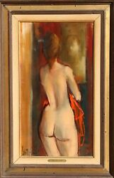 Jan De Ruth, Farewell, Oil On Canvas, Signed Lower Left